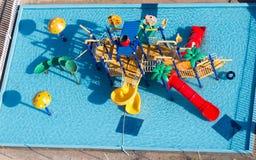 Dia's in het waterpark Stock Foto's