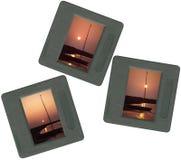 Dia's op lightbox - zonsondergangscènes Royalty-vrije Stock Afbeelding