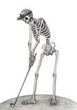 Dia seco do golfe do crânio da arte do festival inoperante Imagem de Stock Royalty Free