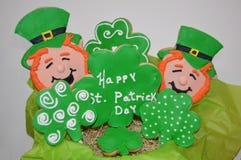 Dia Sugar Cookie Bouquet do St Patricks Foto de Stock Royalty Free