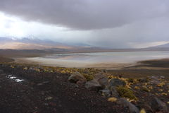 Dia tormentoso no deserto de Atacama Bolívia Fotografia de Stock Royalty Free