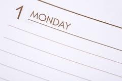 Dia uma segunda-feira Fotografia de Stock