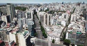Dia a dia urbano 4k de Buenos Aires vídeos de arquivo