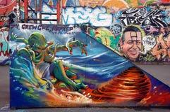 Dia voor skateboarders Stock Foto's