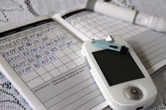 Diabète, mètre de glucose de sang Photos libres de droits