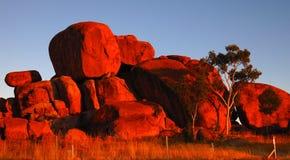 Diabłów marmury, terytorium północny, Australia zdjęcia royalty free