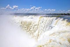 Diabła gardło, Iguazu spada, Argentyna, Ameryka Południowa Obrazy Royalty Free