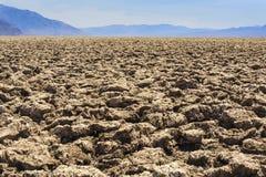 Diabła pole golfowe, Śmiertelna dolina, Inyo okręg administracyjny, Kalifornia Zdjęcia Stock