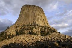 Diabła wierza w Północno-wschodni Wyoming Zdjęcia Stock