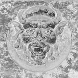 Diabła kamień na ścianie Obrazy Stock