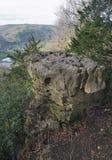 Diabeł ambona i Wye dolina Zdjęcia Royalty Free