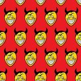 Diabeł głowy bezszwowy wzoru Zdjęcia Royalty Free