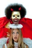 Diabeł i anioł Obraz Stock