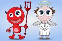 Diabeł i anioł Fotografia Royalty Free