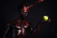 diabeł jabłkowego Obrazy Royalty Free