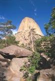 diabeł jest wieża Wyoming Obrazy Stock