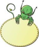 diabeł karciana zieleń Obraz Royalty Free