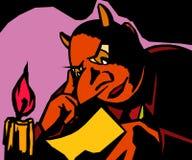 Diabeł czyta list Zdjęcia Stock