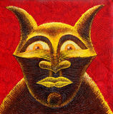 Diabeł (ręcznie malowany) Zdjęcia Stock