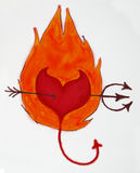 diabeł serce Zdjęcie Stock
