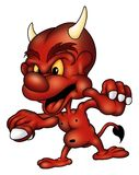 diabelska flamy czerwony Obrazy Stock