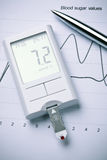 Diabetes - blood sugar meter Stock Image