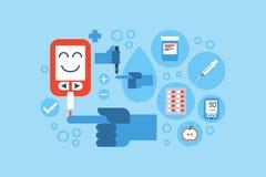 Diabetes blue ring concept Stock Photography