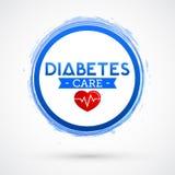 Diabetes Care vector icon design, blue circle emblem Royalty Free Stock Photography