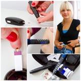 Diabetes - collage de la foto Fotografía de archivo libre de regalías