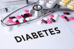 DIABETES CONCEPT Royalty Free Stock Photo