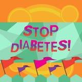 Diabetes conceptual da parada da exibição da escrita da mão O texto da foto do negócio toma de seu Sugar Levels Healthy Diet Nutr ilustração do vetor