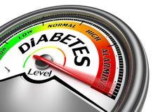 Diabetes conceptuele meter Stock Foto's