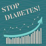 Diabetes da parada do texto da escrita O significado do conceito toma de seus hábitos de Sugar Levels Healthy Diet Nutrition ilustração do vetor