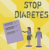 Diabetes da parada da escrita do texto da escrita O significado do conceito toma de seus hábitos de Sugar Levels Healthy Diet Nut ilustração do vetor