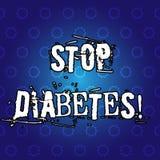 Diabetes da parada da exibição do sinal do texto A foto conceptual toma de seus hábitos de Sugar Levels Healthy Diet Nutrition ilustração stock