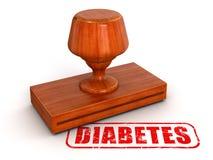 Diabetes del sello de goma (trayectoria de recortes incluida) Foto de archivo libre de regalías