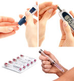 Diabetes diabetic concept collage Stock Images