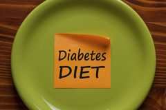 Diabetes Diet written on note concept stock photo