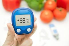 Diabetes doing glucose level test. Royalty Free Stock Image