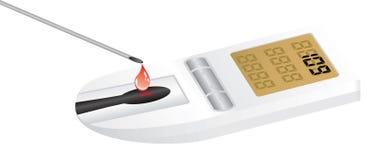 Diabetes equipment. Diabetes blood diagnostics equipment - vector illustration Stock Image