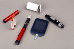 Diabetes equipment Royalty Free Stock Images
