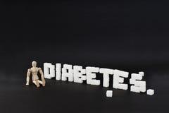 Diabetes escrito Foto de Stock Royalty Free