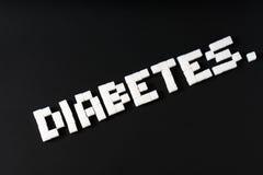 Diabetes escrito Fotografia de Stock Royalty Free