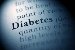 Diabetes. Fake Dictionary, Dictionary definition of the word Diabetes stock photos
