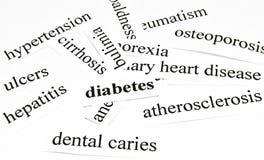 Diabetes. Gezondheidszorgconcept ziekten die door ongezonde voeding worden veroorzaakt Royalty-vrije Stock Afbeeldingen