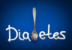 Diabetes - health hazard metaphor Royalty Free Stock Photo