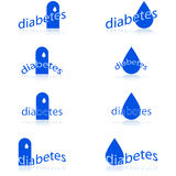 Diabetes icons Stock Images