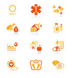 Diabetes icons || JUICY series Royalty Free Stock Photo