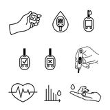 Diabetes Icons vector Royalty Free Stock Photography