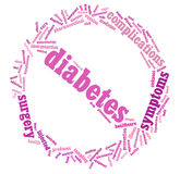 Diabetes info-text graphic Royalty Free Stock Photos
